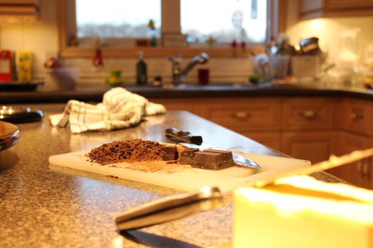 chocolate for the filling - delicious!