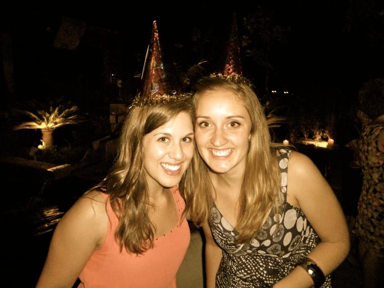 Kaeri and I celebrating a birthday in India