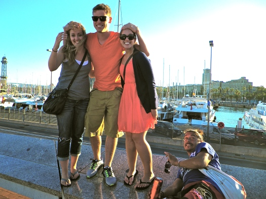 Chad, Kaeri, and I in Barcelona. I love this photo!