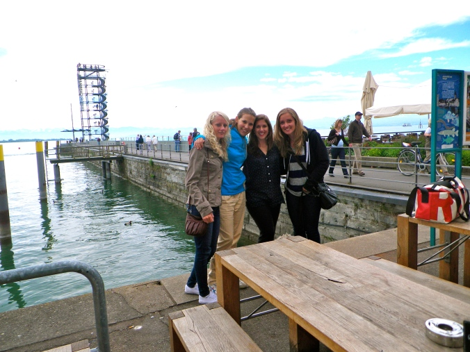 Kaeri, Kathy, Ramona (another friend we made while on German Exchange), and I in Friedrichshafen.